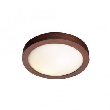 SADDLER - Flush Leather Ceiling Light