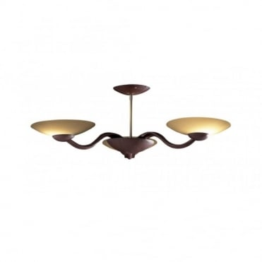 SADDLER - Leather Low Ceiling Light