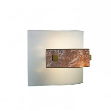 SAVOY - Curved Marbled Glass Wall Light