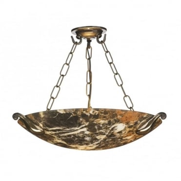 SAVOY - Dark Marble Ceiling Light