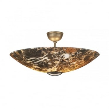 SAVOY - Dark Marble Ceiling Uplighter