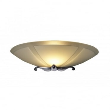 SAVOY - Glass And Pewter Wall Light
