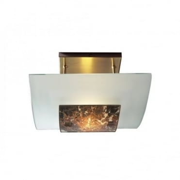 SAVOY - Marbled Glass Low Ceiling Light