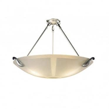 SAVOY - Pewter and Glass Ceiling Light