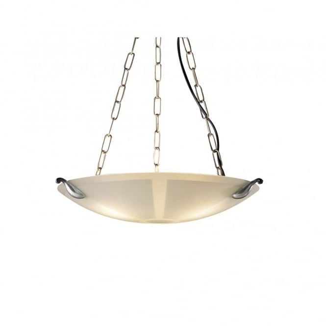 David Hunt Lighting SAVOY - Pewter and Glass Ceiling Pendant