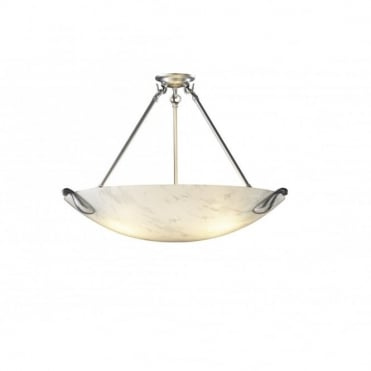SAVOY - White Marble Uplighter Ceiling Pendant
