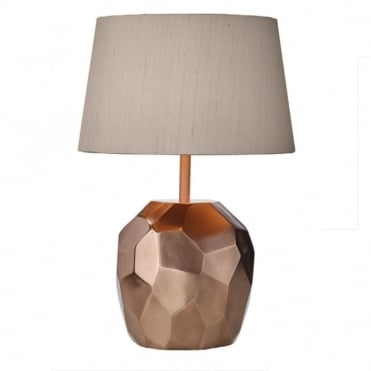 SHARD - Table Lamp Copper With Taupe Shade