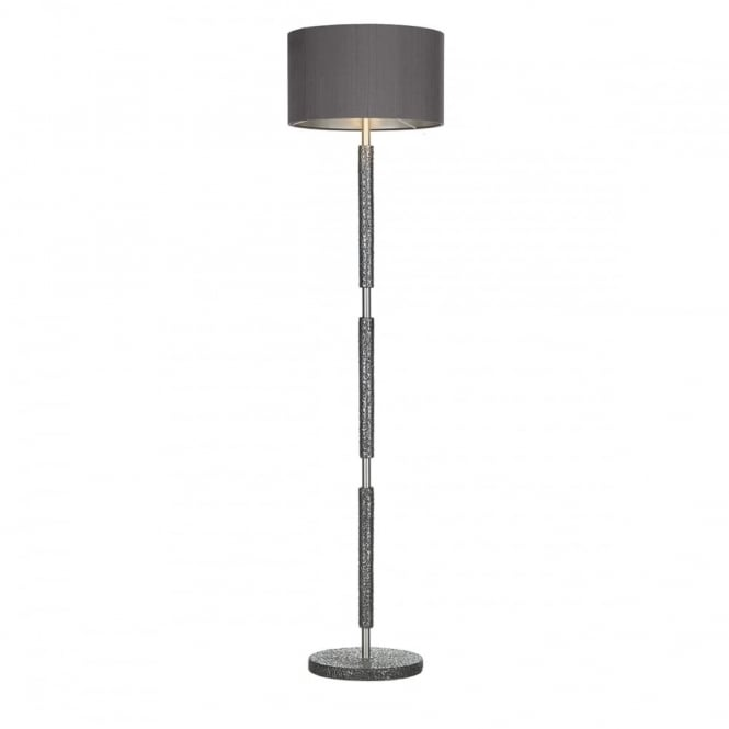 SLOANE - Floor Lamp Pewter With Charcoal Shade