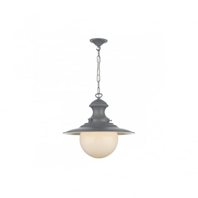 STATION - Lamp 1 Light Pend Sml Lead Grey