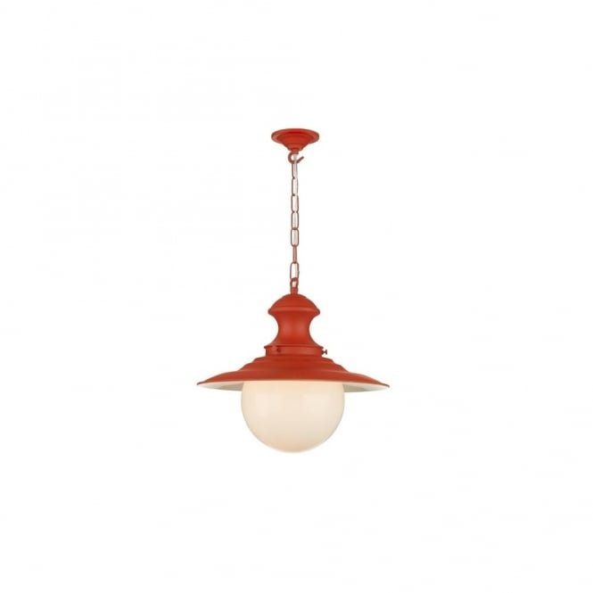 STATION LAMP - Small Burnt Orange Ceiling Pendant
