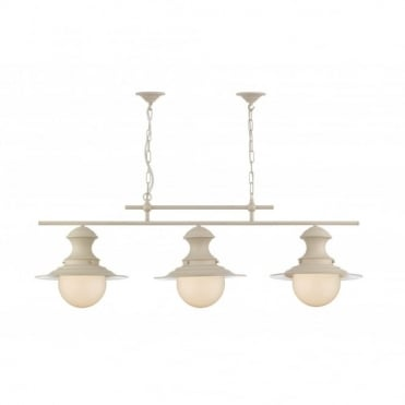 STATION - Lamp Triple Cream Pendant