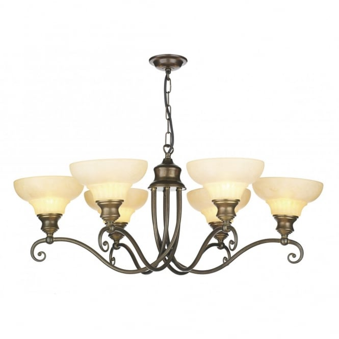 David Hunt Lighting STRATFORD - Aged Brass Ceiling Pendant