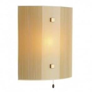 SWIRL - Amber Glass Panel Wall Light