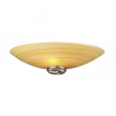SWIRL - Amber Glass Wall Light