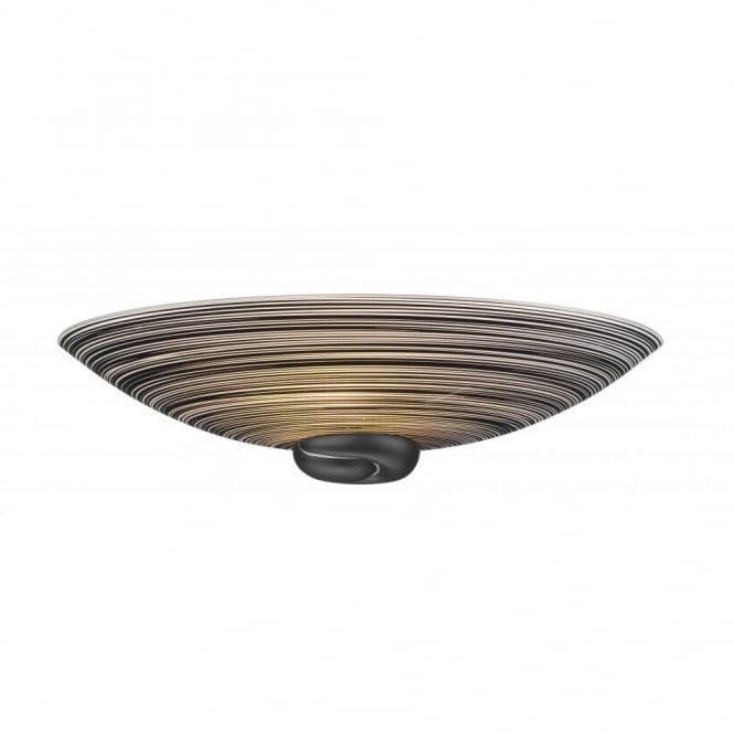 David Hunt Lighting SWIRL - Black Treacle Glass Wall Light