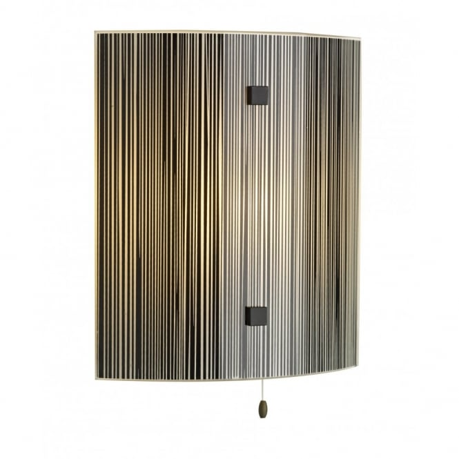 David Hunt Lighting SWIRL - Treacle Glass Panel Wall Light