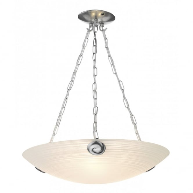 David Hunt Lighting SWIRL - White Glass Uplighter Ceiling Pendant