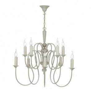 THERESE - 10 Light Ceiling Pendant French Cream Ceiling