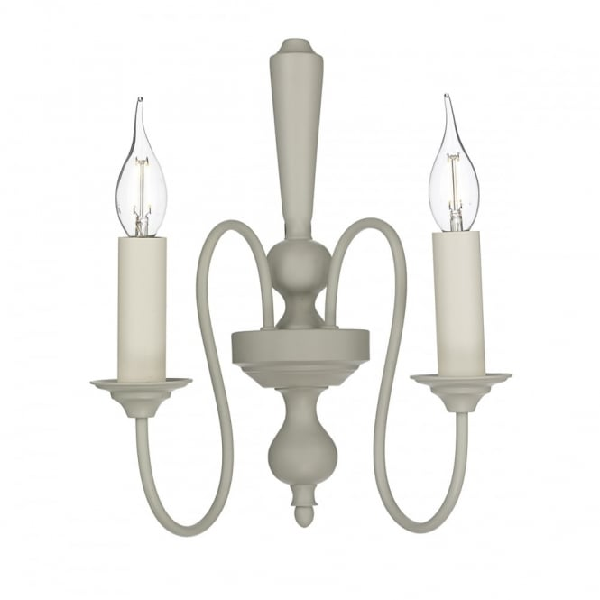 David Hunt Lighting THERESE - 2 Light Wall Light French Cream Wall