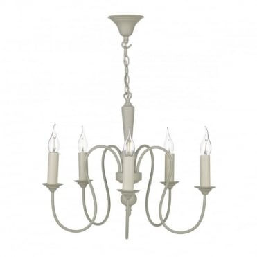 THERESE - 5 Light Ceiling Pendant French Cream Ceiling