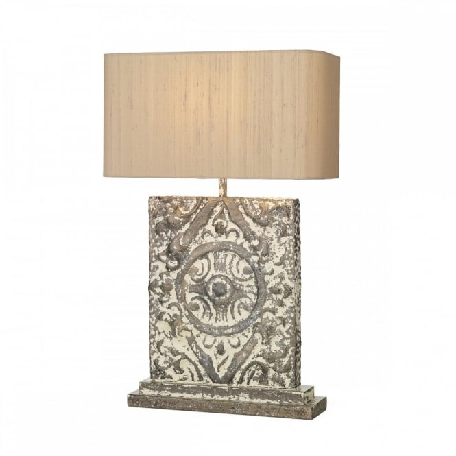 David Hunt Lighting TILE - Tl Rectangle Stone/Brnz Base With Shade