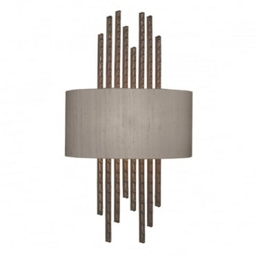 TWAIN - Wall Washer Copper Complete With Silk Shade (Specify Colour) Wall
