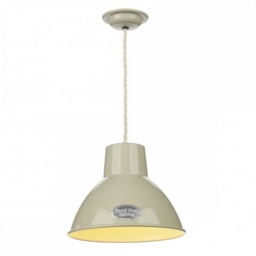 UTILITY - 1 Light Ceiling Pendant Sml French Cream