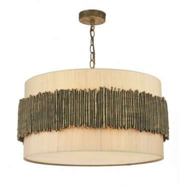 WILLOW - Rustic Gold Cocoa Ceiling Pendant