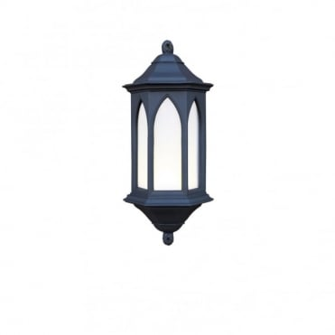 YORK - Exterior Black Stone Garden Wall Light