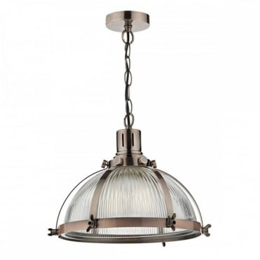 DEBUT - 1 Light Ceiling Pendant Brushed Antique Copper