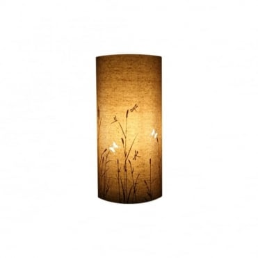 Delightful Cylindrical Fabric Butterfiles Table Lamp