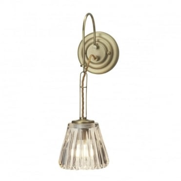 DEMELZA 1 Light Bath Wall Light Brass
