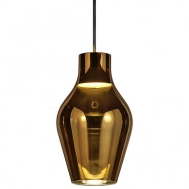 BLOW 17 - Iridescent Ceiling Pendant Gold Glass