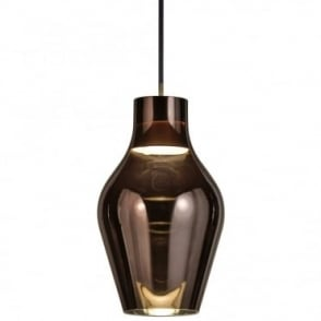 BLOW 17 - Iridescent Ceiling Pendant Grey Glass