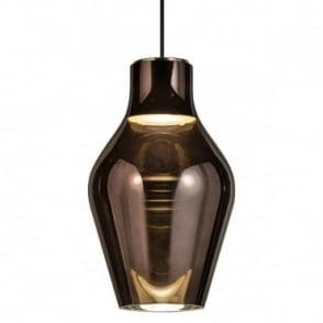 BLOW 22 - Iridescent Ceiling Pendant Grey Glass