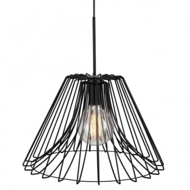 CALM - Modern Cage Style Ceiling Pendant Black