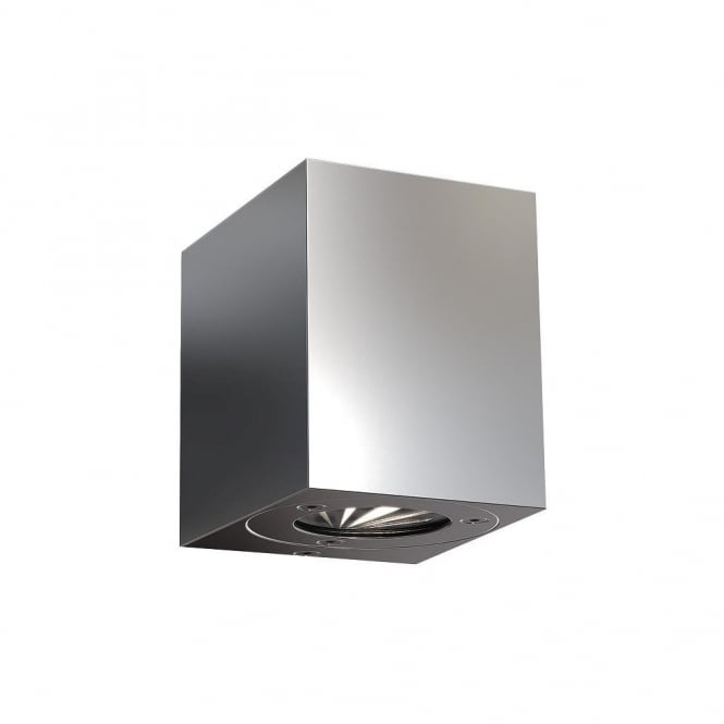 CANTO - LED IP44 Kubi Wall Light in Stainless Steel