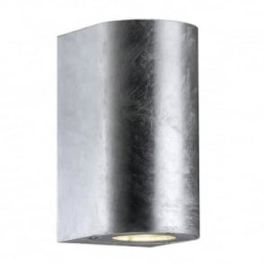 CANTO - Modern Maxi Exterior Wall Light in Galvanised Steel
