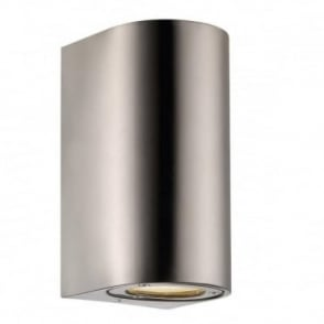 CANTO - Modern Maxi Exterior Wall Light in Stainless Steel