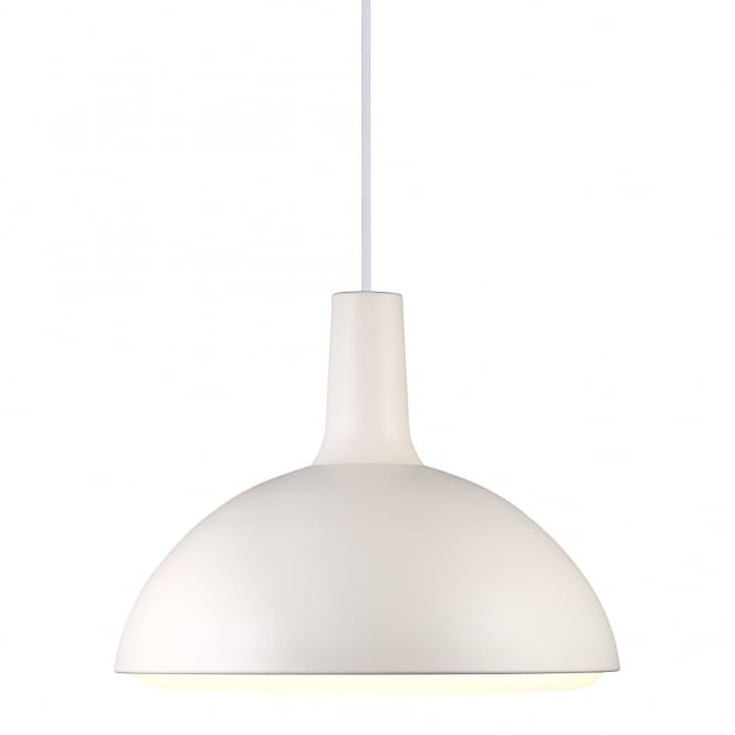 Design For The People DEE - Modern White Dome Ceiling Pendant Opal Glass Diffuser