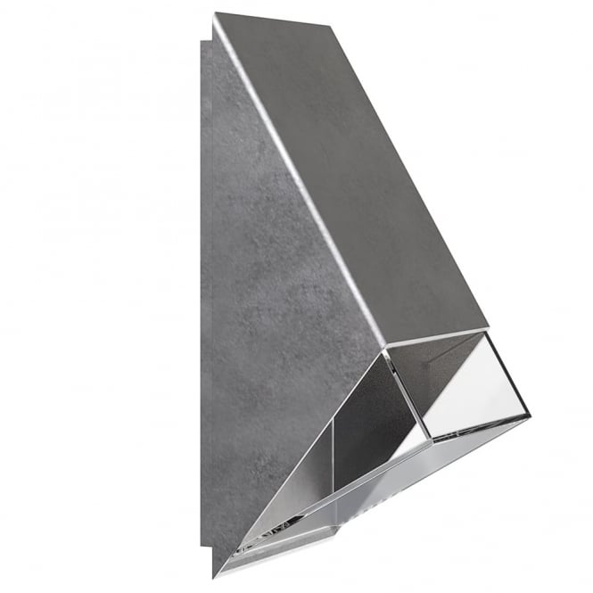 Design For The People EDGE 100 - Modern Exterior Wall Light Galvanised Steel