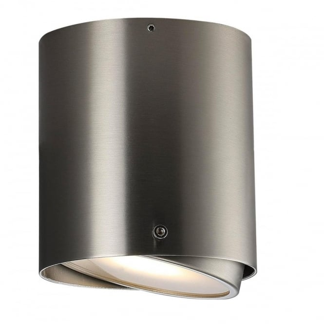 Design For The People IP S4 - Bathroom Cylindrical LED Surface Mounted Spotlight for Walls and Ceilings Stainless Steel