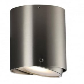 IP S4 - Bathroom Cylindrical LED Surface Mounted Spotlight for Walls and Ceilings Stainless Steel