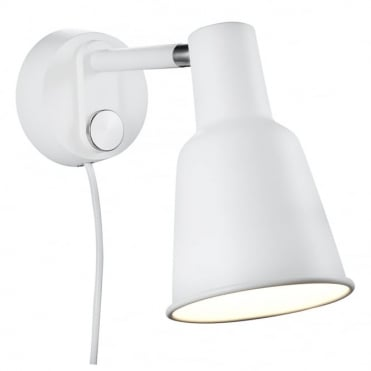 PATTON - Retro Dimmable Wall Light White