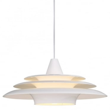 SATURN - Modern Layered Ceiling Pendant White