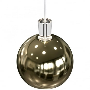 SHAPE Polished Brass Globe Ceiling Pendant
