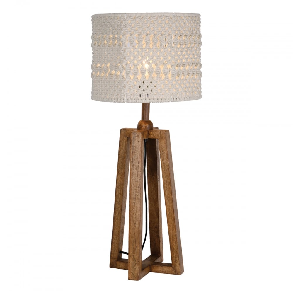 Devyn macrame table lamp wood base only lighting and lights uk devyn macrame table lamp wood base only aloadofball Choice Image