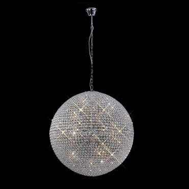 AVA Extra Large Meter Wide Crystal Sphere Ceiling Pendant