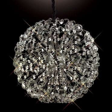 ESME Huge 1.2 Meter Diameter Ceiling Pendant Chrome Crystal Sphere