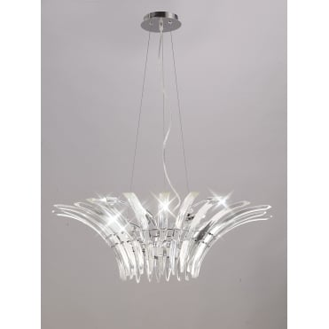 SINCLAIR Elegant Ceiling Pendant with Curved Crystal Prisms